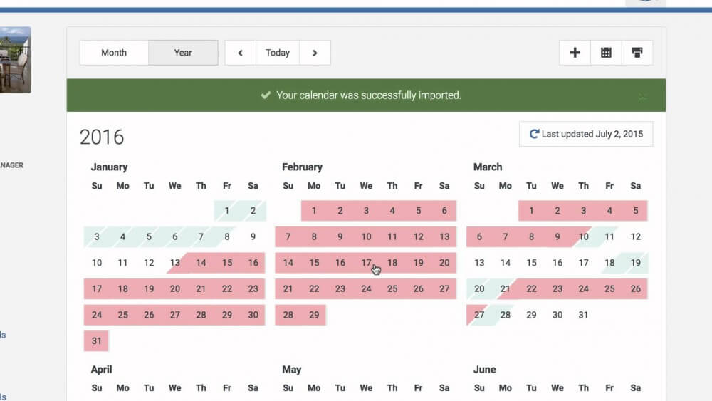 vacation rental management syncing calendars