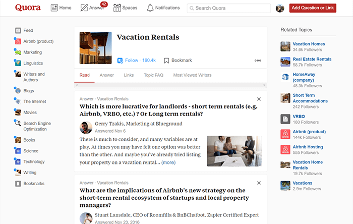 vacation rental forum